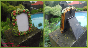 Vine and Flower Photo Frame by Dragina-Draona