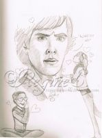 From my sketchbook 6 - The Fangirl Page by ReginesArtwork