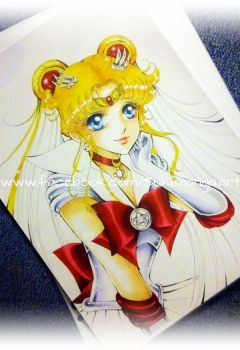 Sailor Moon fan art WIP by Suki-Manga