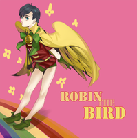 Dick the robin bird by Operapink