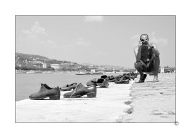Shoes on the Danube by thejamcascru