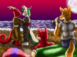 Kraken commish 5 roadtrip by Evilsquirrel