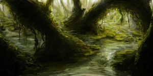 SPEEDPAINT - Swamp by tgw-Raptor