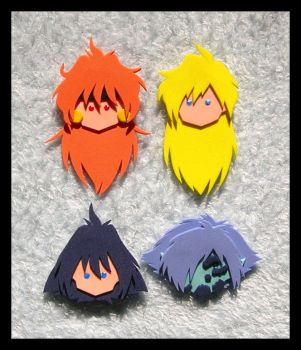 Pins - Slayers Main Four by GwydionAE