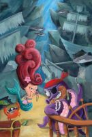 Mermaids and Pirates by Colonelle