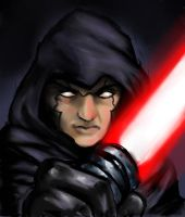 painter practice....its a sith by SquallLeonhart245