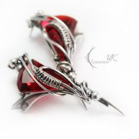 LIVILIEERN - silver and red quartz by LUNARIEEN