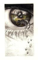Into the Depth of an Eye by crayon2papier
