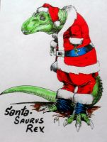 SantaSaurusRex by PM-Graphix