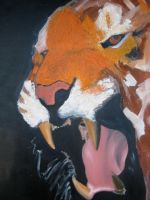 Tiger Painting WiP by chilipeppersfan92