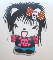Emo Hello Kitty by ianhogger