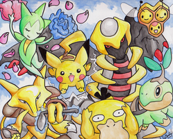 Pokemon Group Picture by StickFreeks