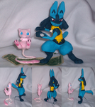 Lucario and Mew by VengefulSpirits