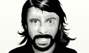 Dave Grohl Portrait by cromarlimo