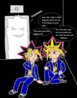 Yugi vs. Door by Wingless-Sora
