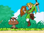 link+goomba by kataklysmatica