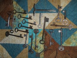 Keys on Quilt, variation 1 by Chaosfive-55
