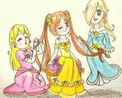 AT: Secret of her beautiful ponytails by Derochi