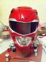 Mighty Morphin' Power Rangers helmet by shadowcast89