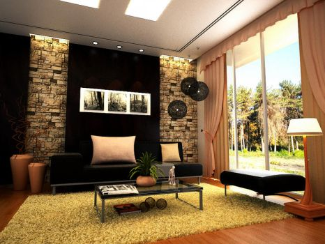 Contemporary Living room by arkiden124