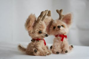 Little Christmas puppies by Matlyak