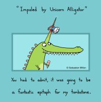 Unicorn Alligator by sebreg