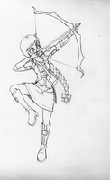 arrow girl sketch by G4MM43T4