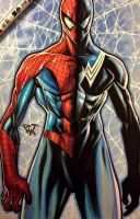 Amazing spiderman traditional copic artwork by pant