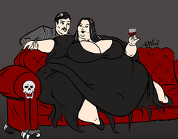 Commission: Morticia Addams by Idle-Minded