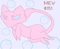Day 05: Favorite legendary Pokemon - Mew by kirbyemma