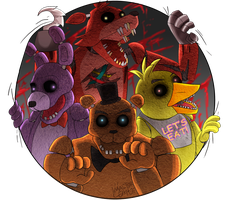 Welcome to Our Party...to Fazbear Pizza Party by MasterLeahART