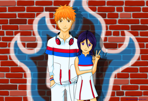 Bleach - IchiRuki: The Wall by AlienNinja