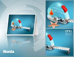 ronix new year postal card by E30X