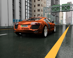 Chromey Orange Audi R8 by sabrefresco