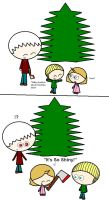 GerMerica1st X-Mas Tree and ax by ABtheButterfly