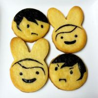 Fionna and Marshall Lee cookies by tasukigirl