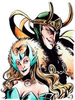 The Trickster and The Enchantress by Jowy10