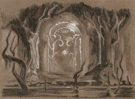 Gates of Moria sketch by Kethwyn2013
