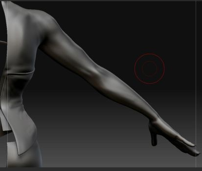 Zbrush  WIP  - Upper Back by Naruto-De