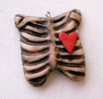 Ribcage pendant 1 by rude-and-reckless
