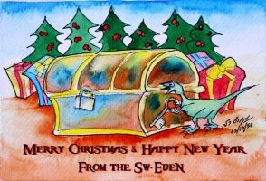 Merry Christmas and Happy New Year 2013 Card by sw-eden