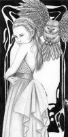 Lily and the Owl Bookmark by Queen-Uriel