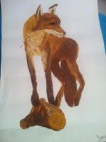 Fox painting (School assignement last year) by jirjirjir