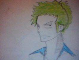 zoro doodle by Cryis