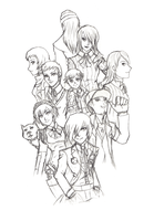 Persona 3 group drawing by aznswordmaster1