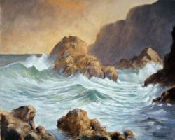 Seascape Oil Painting 1 by Boias