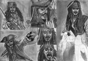 Jack Sparrow Compilation WIP 22 by diablocyrus