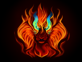 Heart of Fire + Speedpaint! by Pixel-Coyote