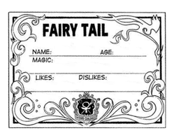 Fairy Tail Guild Card Template by Xcrossfire753