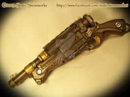 Steampunk Shotgun by Static-Steamworks